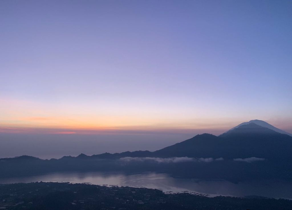 Volcano welcoming the sunrise